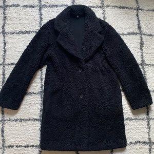 Fuzzy Black Oversized Uniqlo Coat
